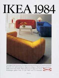 IKEA catalogs are always a source of inspiration—but have you seen their vintage offerings? These five covers still have tons of great styling ideas. 80s Furniture, Unfinished Furniture, Furniture Catalog, Furniture Design, Kitchen Furniture, Office Furniture, Furniture Dolly, Wicker Furniture, Furniture Layout