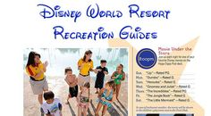Trying to pick a  resort and/or wondering what there is to do at your resort?  Then check out this fantastic list of Walt Disney World Resort Recreation Guides!