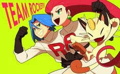 Created by おぬこ (English: Onuko) Pokemon Team Rocket, Pokemon Tv, Pokemon Games, Pokemon Stuff, Pokemon Fusion, Team Rocket James, James Pokemon, Equipe Rocket, Manga Books