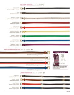 Look at the rainbow of color belts!  MyJewellStyle.com/AngieGibson