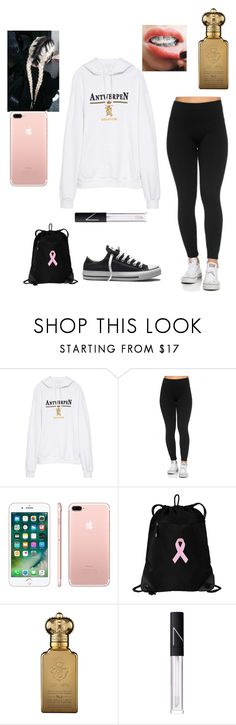 """""""At a restaurant with gabby"""" by miss-lelee-swagg ❤ liked on Polyvore featuring Vetements, Apple, Clive Christian, NARS Cosmetics and Converse"""