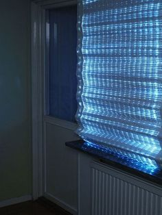 Energy Curtain absorbs energy from sun during day and releases it at night.
