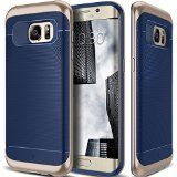 Galaxy S7 Edge Case Caseology [Wavelength Series] Textured Pattern Grip Cover [Navy Blue] [Shock Proof] for Samsung Galaxy S7 Edge (2016)  Navy Blue