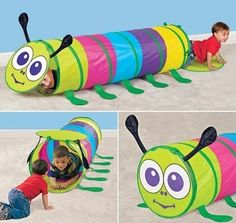 Amazon.com : Caterpillar Tunnel- Indoor/Outdoor Pop Up Tunnel : Childrens Play Tunnels : Toys & Games