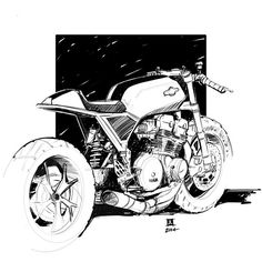 Downshift Studio Sketches Jeremy Lacy is a Industrial Designer who eats, sleeps and breathes anything and everything Moto related. Motorcycle Posters, Motorcycle Art, Bike Art, Bike Sketch, Bike Drawing, Bobber Custom, Bike Logo, Motorbike Design, Bike Illustration