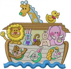 Machine Embroidery Designs Embroidery Design: Noahs Ark 5.77 inches H x 5.90 inches W