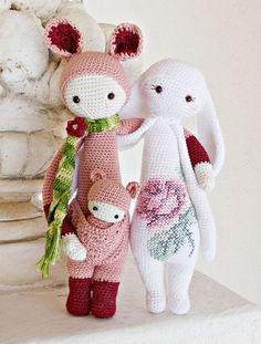 lalylala dolls   ... and RITA the rabbit made by Lella / crochet patterns by lalylala