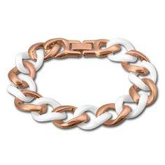 Amello Edelstahl Armband Keramikschmuck weiß – Panzerarmband rosevergoldet für Damen Edelstahlschmuck Stainless Steel ESAX20W8 | Your #1 Sou...