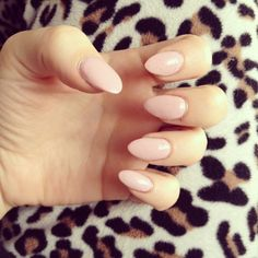 Simple Pink Almond Nails