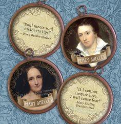 Mary Shelley & Percy Bysshe Shelley  2inch by steamduststudios, $3.00