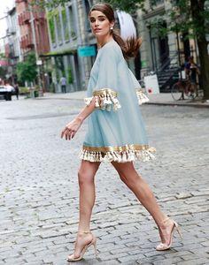 Shimmy Shimmy Tassel Dress in Pacific Blue Look Fashion, High Fashion, Womens Fashion, Fashion Trends, Quirky Fashion, Feminine Fashion, 2000s Fashion, Fashion 2017, Retro Fashion