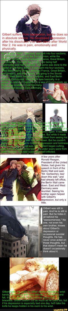 Depression Prussia Headcannon <<< ((My Headcannon)) <<< Oh my god, this is so sad...