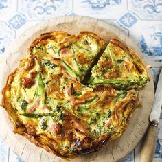 Broccoli and bacon frittata recipe