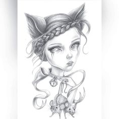 A graphite drawing by Sam Crow Creature 3d, 3d Illustrations, Nine Lives, Curious Creatures, Graphite Drawings, The Nines, Crow, Art Dolls, Raven