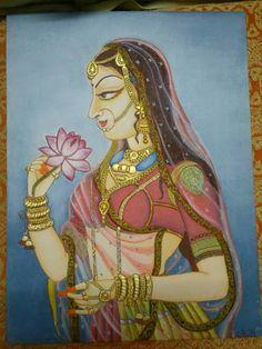 Bani Thani, India's 'Mona Lisa' - You Arts - Quora Pichwai Paintings, Mughal Paintings, Krishna Painting, Madhubani Painting, Indian Art Paintings, Krishna Art, Indian Artwork, Rajasthani Painting, Rajasthani Art