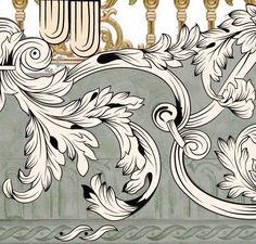 Floral Pattern Vector, Floral Motif, Baroque Pattern, Pattern Art, Eclectic Fabric, White Ornaments, Versace, Baroque Art, Ceramic Wall Art