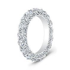 This ring is just stunning - Ladies Platinum diamond eternity vintange antique wedding band 2.00 ctw G-VS2 diamond quality