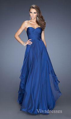 Fashion Sweetheart Long Sleeveless A-Line Prom Dress