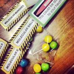 Some small party favours for school. Mad Science Party. Photo by kidstylefile