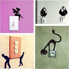 Идея, конечно, не новая. Но забавная Все Pinterest - - #декоративныенаклейки #идеяинтерьера #выключатели #интерьердетской