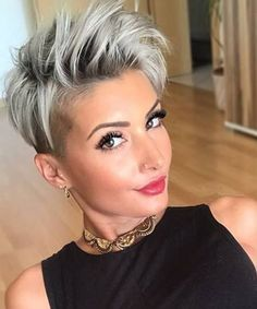 Classic Short Grey Pixie Haircuts for Women to Try This Year