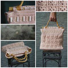 "handmade by -Katarinka- / ""valentino rosa""  / háčkovaná kabelka  - borsetta all´uncinetto - crocheted bag"