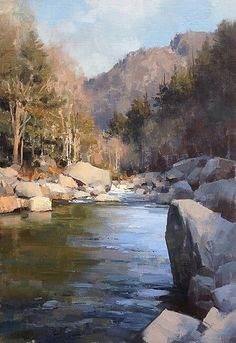 Mountain Morning. Oil on Canvas. Mark Boedges