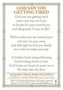 Funeral / Memorial Prayer Card Back Funeral Quotes, Funeral Prayers, Funeral Cards, Prayer Cards For Funeral, Funeral Poems For Mom, Memorial Cards, Funeral Memorial, Memorial Poems, Just In Case