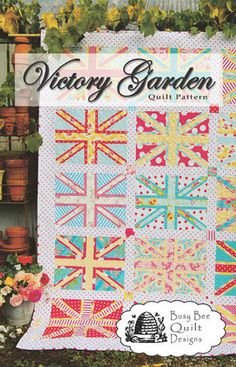 Victory Garden Union Jack Quilt Pattern  Busy by PinkDoorFabrics, $8.95
