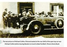 Hours before death: This newly-uncovered image is the last one taken of IRA leader Michael Collins (in the back of the car, left) before he was shot dead Types Of Photography, Candid Photography, Cool Landscapes, Beautiful Landscapes, Michael Collins, Close Up Portraits, Photography Competitions, Scene Image, Photo Story