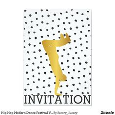 Hip Hop Modern Dance Festival Vip Invitation