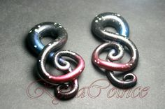 Treble clef    Fake ear gauge Plugs   8g 6g  2g 0g by RybaColnce, $28.00