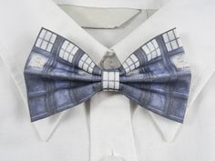 Blue Police Box Bow Tie by PixieBluebellDesigns on Etsy