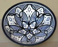 Moroccan Ceramic Plate Pottery Spanish Salad Pasta Bowl Handmade Free Shipping | eBay