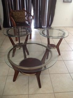 Set of three tables in Orlando, FL (sells for $65)
