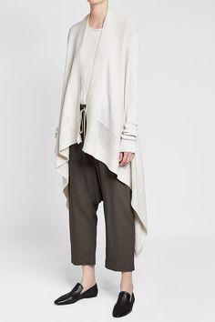 Rick Owens Asymmetric Cardigan with Cotton Luxury Fashion, Womens Fashion, White Style, Rick Owens, Fashion Online, Knitwear, Normcore, Knitting, Cotton