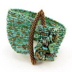 En Vogue Bracelet Bead Weaving Kit - Beads Gone Wild - 2 Beads Jewelry, Beaded Jewelry Patterns, Bracelet Patterns, Beading Patterns, Jewelry Crafts, Handmade Jewelry, Jewelry Ideas, Handmade Beads, Jewelry Findings