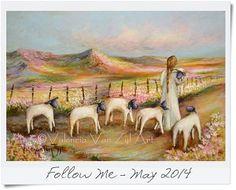 Valencia Van Zyl Art Acrylic on canvas www.facebook.com/... Sold Naive art girl lamb Naive Art, Art Girl, Valencia, Sheep, Watercolor Paintings, Vans, Artist, Instagram Posts, Facebook