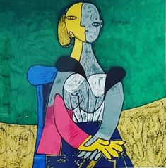 Picasso Abstract Expressionism, Pablo Picasso, Destruction, Besties, Blue Painting, Contemporary Art, Cubism, Painted Canvas, Tags