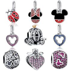 Deals For $5.36, Buy 100% Authentic 925 Sterling Silver Mickey Shape Charm Beads Fit Original BW Charm Bracelet DIY Silver Jewelry