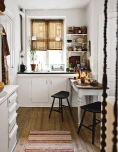 Love the table as an extension to the counter.  Perfect for our little kitchen!