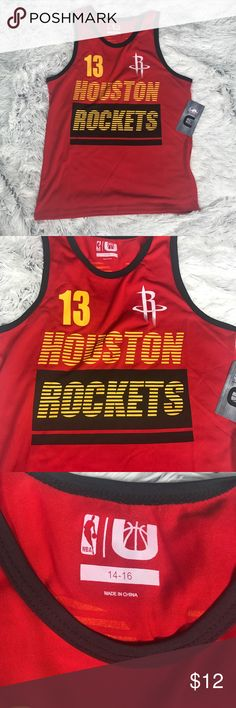 best service 3cc1c a9159 Houston Rockets kids basketball jersey NBA New with tags kids basketball  jersey One jersey (2nd to last pic) has a blue dot in the number one.