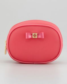 Small Jelly Bow Cosmetic Case, Strawberry by Tory Burch at Neiman Marcus. $65.00