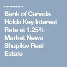 Bank of Canada Holds Key Interest Rate at 1.25% Market News Shupilov Real Estate