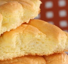 Flourless Cloud Bread- 3 eggs, separated, 3 ounces reduced-fat/fat-free cream cheese OR 3 tablespoons sour cream or ricotta cheese or cottage cheese or thick yogurt, teaspoon Splenda granular, teaspoon cream of tartar and a Pinch of salt Bariatric Recipes, Diabetic Recipes, Gluten Free Recipes, Low Carb Recipes, Bread Recipes, Cooking Recipes, Diet Recipes, Healthy Recipes, Bagels