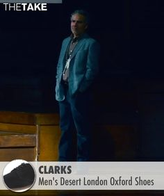Clarks Men's Desert London Oxford Shoes inspired by Joel Pforzheimer in Steve Jobs | TheTake