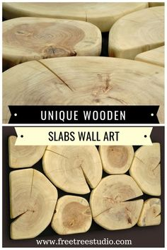 Wooden slabs wall art large size wood wall art A truly unique wooden slabs wall art of a large size This wood wall art was created of aspen tree cross cut slabs The. Wooden Wall Design, Large Wood Wall Art, Wooden Wall Art, Wooden Walls, Wooden Furniture, Wooden Slices, Diy Cutting Board, Aspen Trees, Panel Wall Art