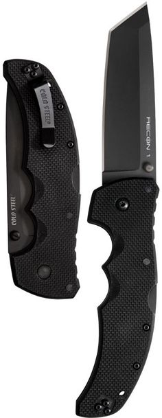 Cold Steel Recon 1 Tactical EDC Folding Tanto Knife Blade
