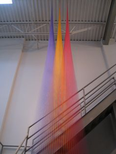String Rainbows of Color, Color, Color: Ethereal Thread Art Installations   Jeannie Huang