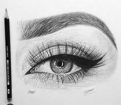 New Art Sketches Pencil Art Drawings, Realistic Drawings, Art Drawings Sketches, Eye Drawing Tutorials, Eye Sketch, Beautiful Drawings, Beautiful Pictures, Eye Art, Art Sketchbook